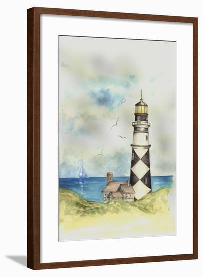 Lighthouse 01A-Maria Trad-Framed Giclee Print