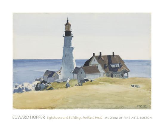 Lighthouse And Buildings Portland Head 1927 Art Print By Edward Hopper Com