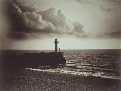 Lighthouse and Jetty, Le Havre-Gustave Le Gray-Giclee Print
