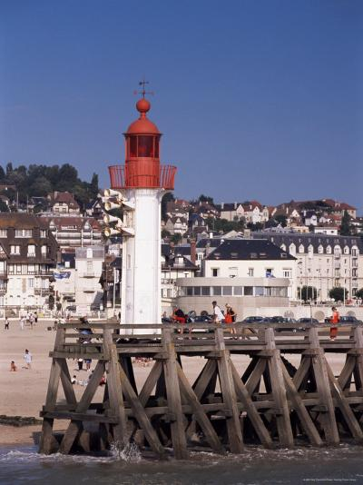 Lighthouse and Jetty, Trouville, Basse Normandie (Normandy), France-Guy Thouvenin-Photographic Print