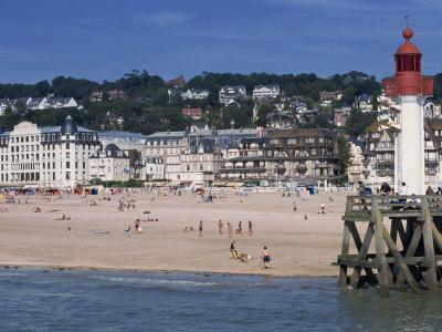 Lighthouse and Pier, Trouville, Basse Normandie, France, Europe-Thouvenin Guy-Photographic Print