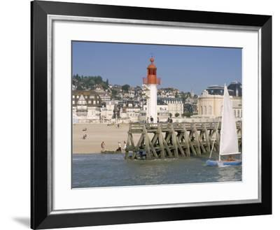 Lighthouse and Pier, Trouville, Basse Normandie (Normandy), France-Guy Thouvenin-Framed Photographic Print