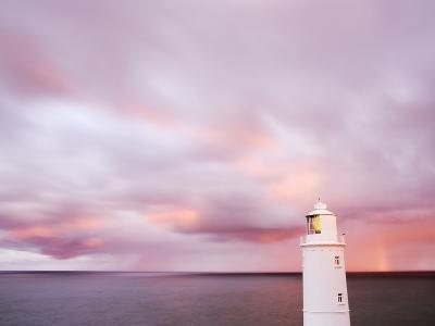 Lighthouse and Sunrise in Distance-Paul Hardy-Photographic Print