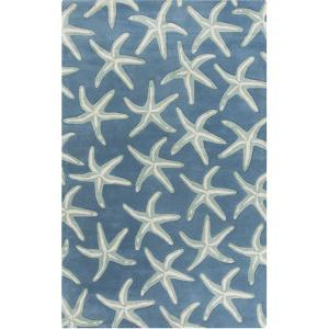 Lighthouse Area Rug - Cobalt/Light Gray 5' x 8'