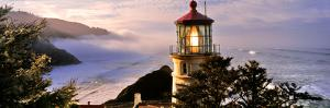 Lighthouse at a Coast, Heceta Head Lighthouse, Heceta Head, Lane County, Oregon, USA
