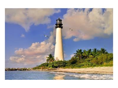 Lighthouse at Bill Baggs Cape, Key Biscayne, Florida, USA--Art Print