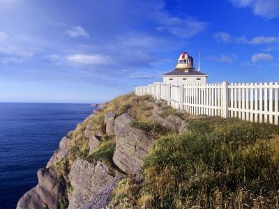 Lighthouse at Cape Spear National Historic Site, Newfoundland, Canada.-Barrett & Mackay-Photographic Print