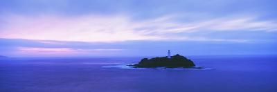 Lighthouse at Dusk Near St. Ives-Design Pics Inc-Photographic Print