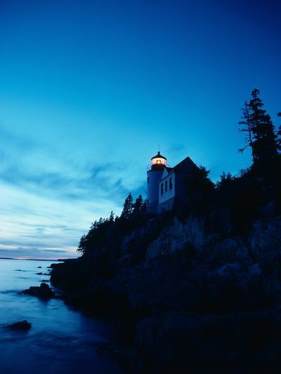 Lighthouse at Dusk-Craig Aurness-Photographic Print