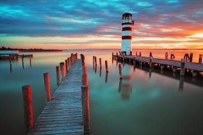 Lighthouse at Lake Neusiedl - Austria-TTstudio-Photographic Print
