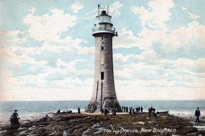 Lighthouse at New Brighton, Wirral, Merseyside, 1904--Giclee Print