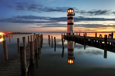 Lighthouse At Night-TomasSereda-Photographic Print