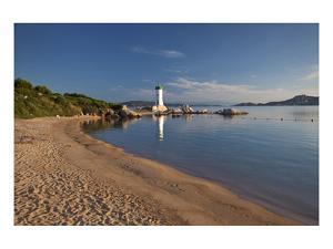Lighthouse at Punta Faro in Palau, Province of Olbia-Tempio, Sardinia, Italy