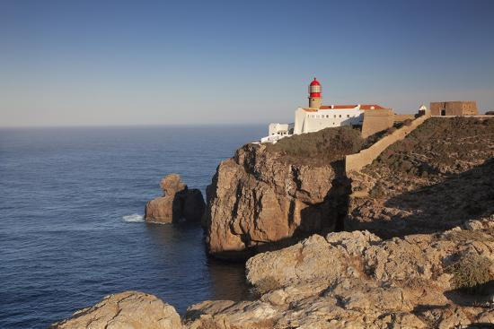 Lighthouse at sunrise, Cabo de Sao Vicente, Sagres, Algarve, Portugal, Europe-Markus Lange-Photographic Print
