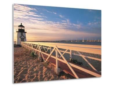 Lighthouse at Sunrise, Nantucket, MA-Walter Bibikow-Metal Print