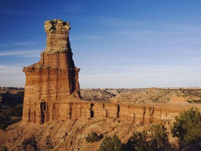 Lighthouse at Sunset, Palo Duro Canyon State Park, Canyon, Panhandle, Texas, USA-Rolf Nussbaumer-Photographic Print