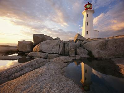 Lighthouse at Sunset-Richard Nowitz-Photographic Print