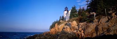Lighthouse at the Coast, Bass Head Lighthouse, Acadia National Park, Mount Desert Island, Maine--Photographic Print