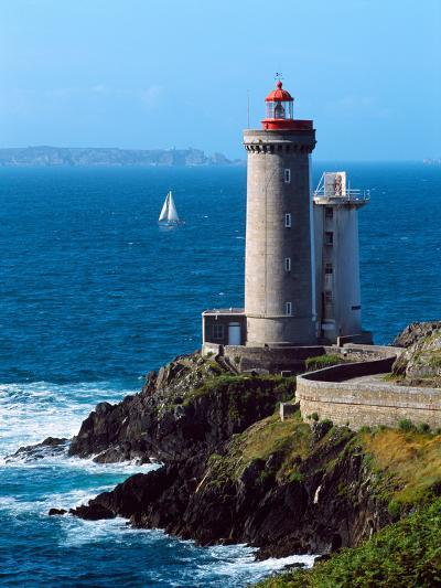 Lighthouse at the Coast, Phare Du Petit Minou, Goulet De Brest, Finistere, Brittany, France--Photographic Print