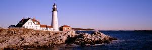 Lighthouse at the Coast, Portland Head Lighthouse, Cape Elizabeth, Maine, New England, USA