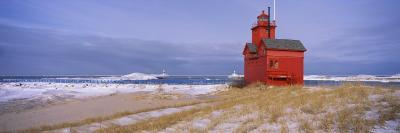 Lighthouse at the Lakeside, Big Red Lighthouse, Lake Michigan, Holland, Michigan, USA--Photographic Print
