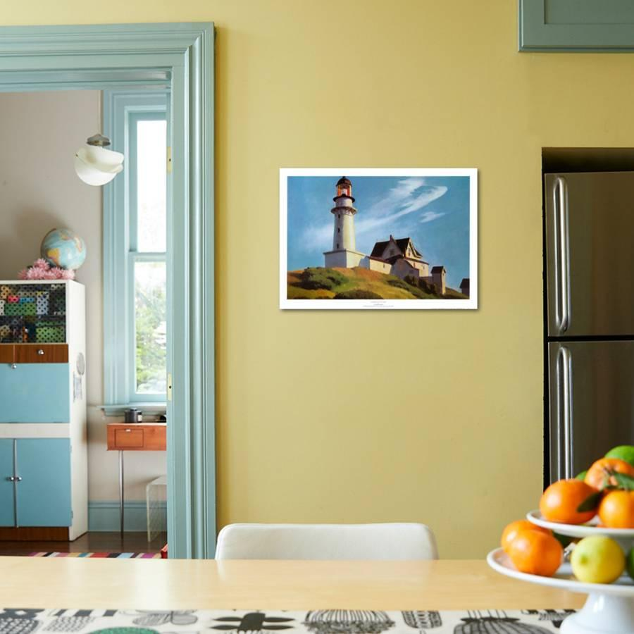 Lighthouse at Two Lights Art Print by Edward Hopper | the NEW Art.com