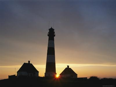 Lighthouse at Westerhever, Wattenmeer National Park, Germany-Norbert Rosing-Photographic Print