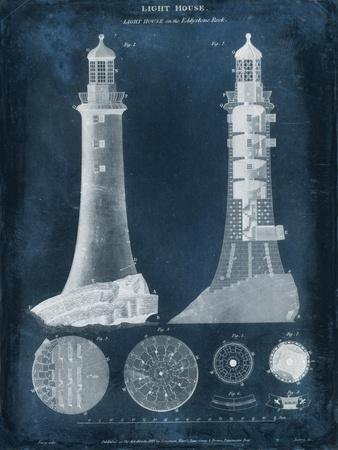 Lighthouse Blueprint-Vision Studio-Art Print
