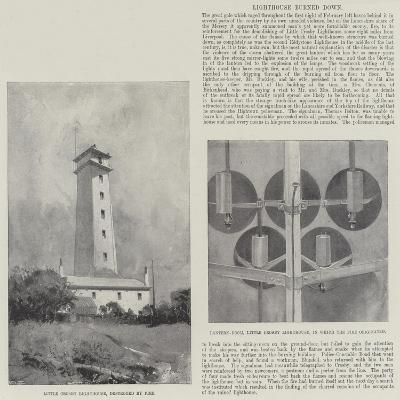 Lighthouse Burned Down-Henry Charles Seppings Wright-Giclee Print