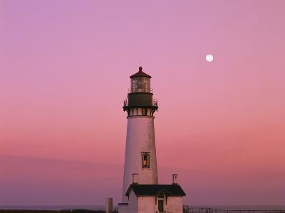 Lighthouse by Beach at Dusk-Craig Tuttle-Photographic Print