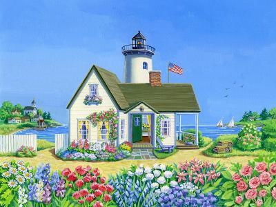 Lighthouse Cottage-Geraldine Aikman-Giclee Print