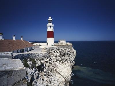 Lighthouse, Europa Point, Gibraltar, Spain-Walter Bibikow-Photographic Print