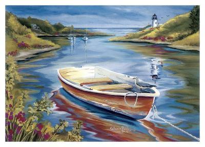 Lighthouse Harbor II-Kathleen Denis-Art Print