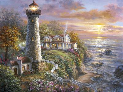Lighthouse Haven-Nicky Boehme-Giclee Print