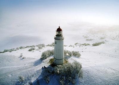 Lighthouse, Hidensee Island, Germany-Eller Brock-Art Print