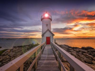Lighthouse in Gloucester, Ma. USA-Christian Delbert-Photographic Print