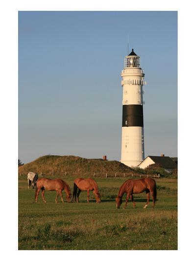 Lighthouse in Kampen, Sylt, Schleswig Holstein, Germany--Art Print