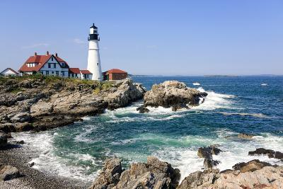 Lighthouse in Portland, Maine-LuciaP-Photographic Print