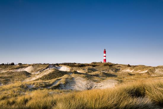 Lighthouse in the Dunes, Amrum Island, Northern Frisia, Schleswig-Holstein, Germany-Sabine Lubenow-Photographic Print