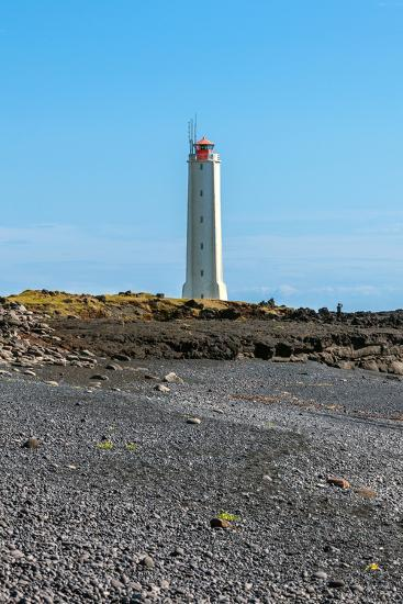 Lighthouse in West Iceland at Sunny Weather-dvoevnore-Photographic Print