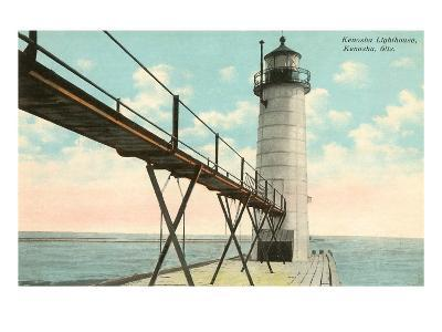 Lighthouse, Kenosha, Wisconsin--Art Print