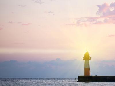 Lighthouse Light at Sunset-Alexander Potapov-Photographic Print