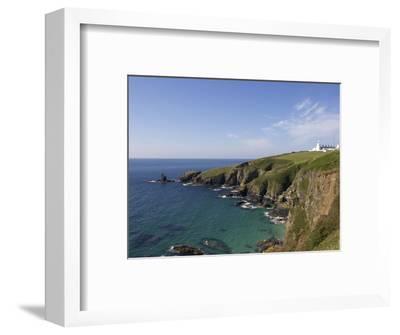 Lighthouse, Lizard Point, Cornwall, England, United Kingdom, Europe-Jeremy Lightfoot-Framed Photographic Print