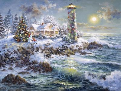 Lighthouse Merriment-Nicky Boehme-Giclee Print