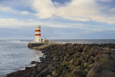 Lighthouse Near Gardur, Reykjanes, SŸdwestisland, Iceland-Rainer Mirau-Photographic Print