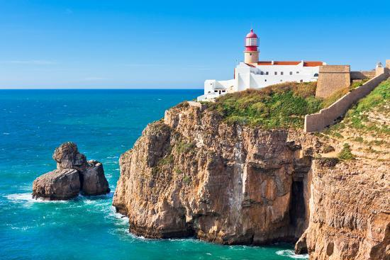Lighthouse of Cabo Sao Vicente, Sagres, Portugal-topdeq-Photographic Print
