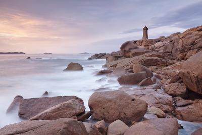 Lighthouse of Meen Ruz, Ploumanach, Cote De Granit Rose, Cotes D'Armor, Brittany, France, Europe-Markus Lange-Photographic Print