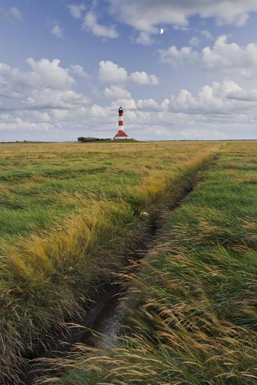 Lighthouse of Westerhever (Municipality), Schleswig-Holstein, Germany-Rainer Mirau-Photographic Print
