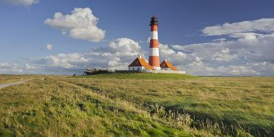 Lighthouse of Westerhever (Municipality), Schleswig-Holstein, Germany-Rainer Mirau-Photographic Print