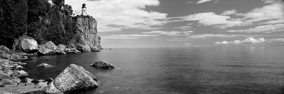 Lighthouse on a Cliff, Split Rock Lighthouse, Lake Superior, Minnesota, USA--Photographic Print